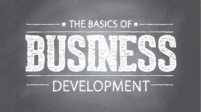 Biz Dev Basics written on a chalkboard